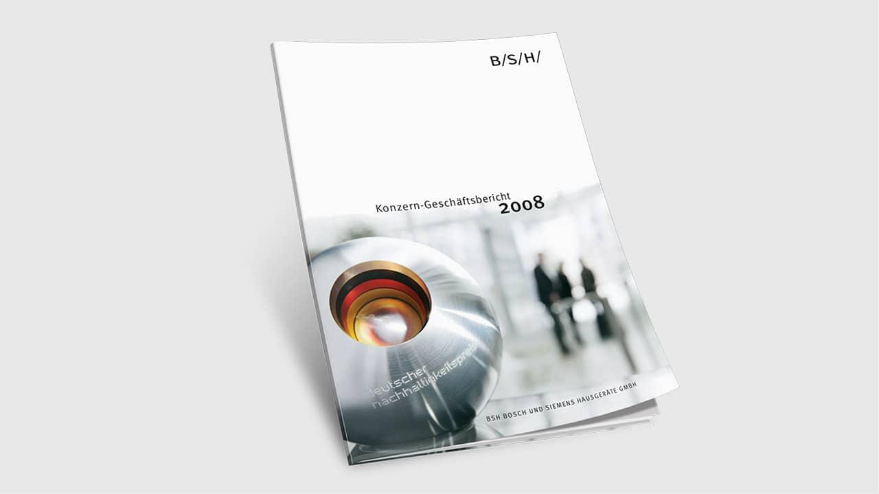 Referenz Printdesign München: Geschäftsbericht Titel