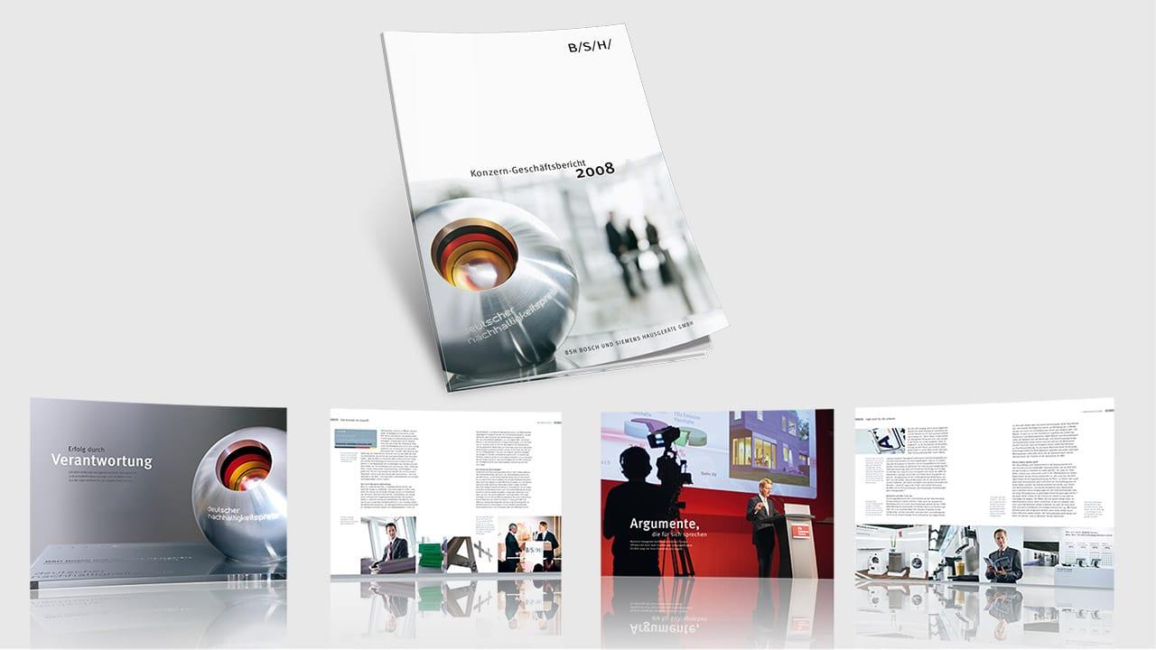 Referenz Printdesign München: Geschäftsbericht des Konzerns
