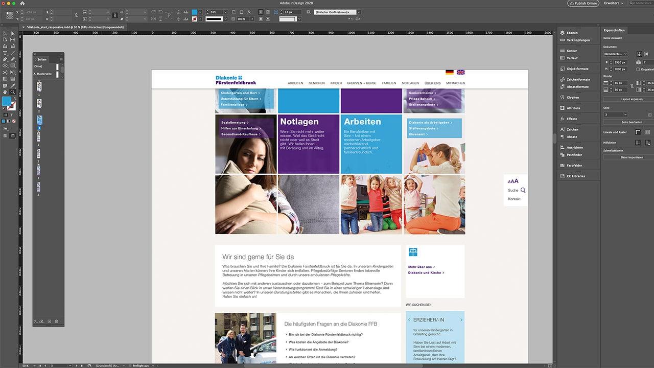 Konzept und Design Website, Portfolio Webdesign München