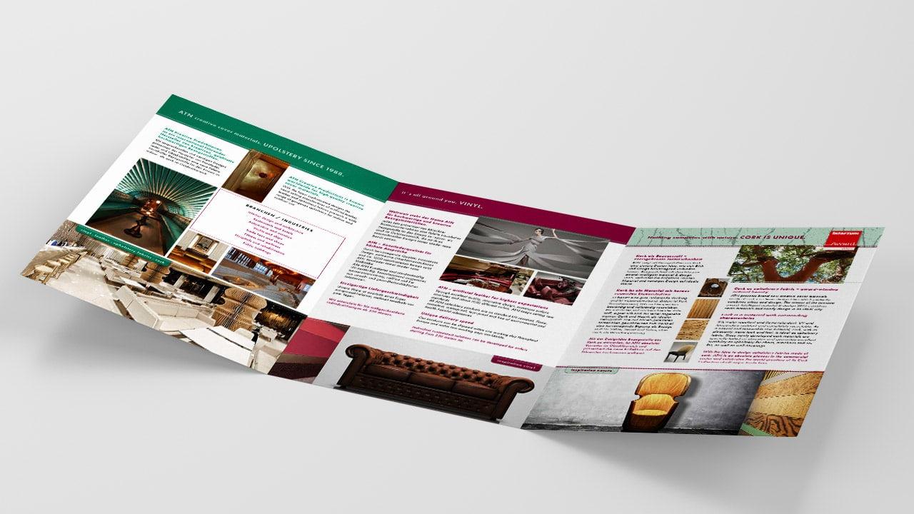 Referenz Printdesign München: Unternehmensbroschüre ATN