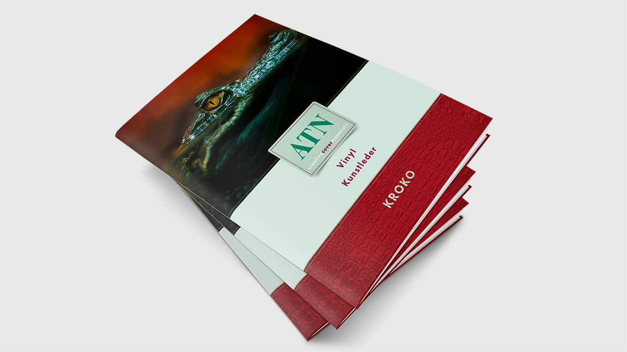 Referenz Printdesign München: Cover Gestaltung Mustermappe ATN