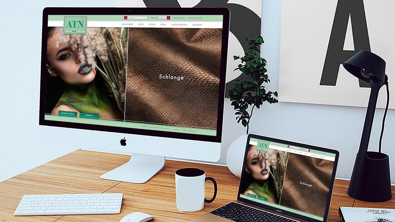 Referenz Webdesign Online Shop München: ATN Creative Cover Materials