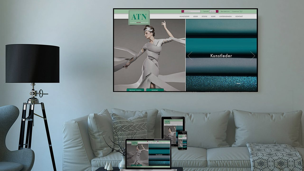 Referenz Responsive Design Online Shop München: ATN Creative Cover Materials