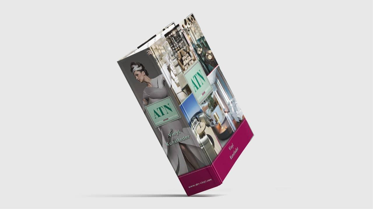 Referenz Printdesign München: Cover Gestaltung Musterordner ATN