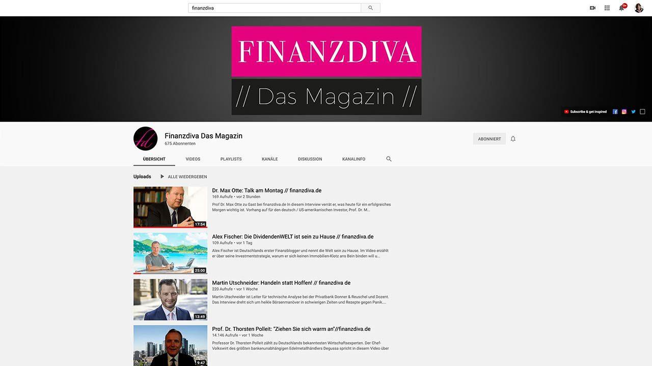 YouTube Channel Design für Finanzdiva