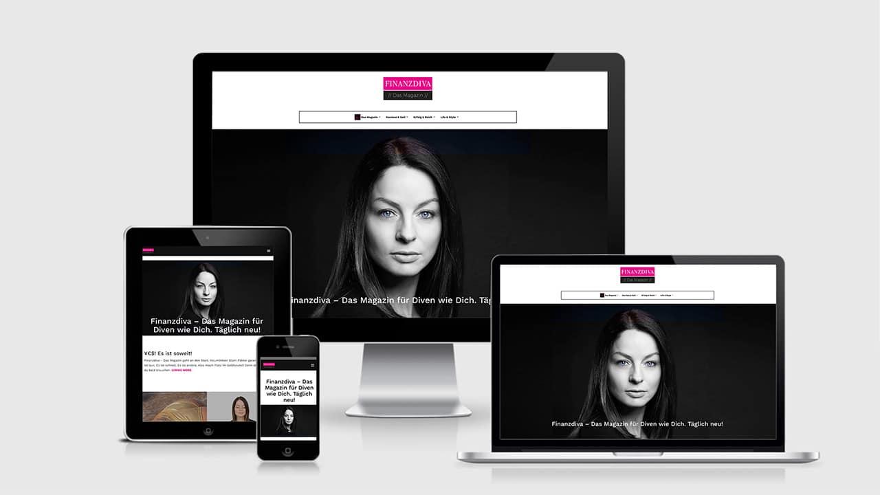 Referenz Wordpress Webdesign München: Website Design Finanzdiva