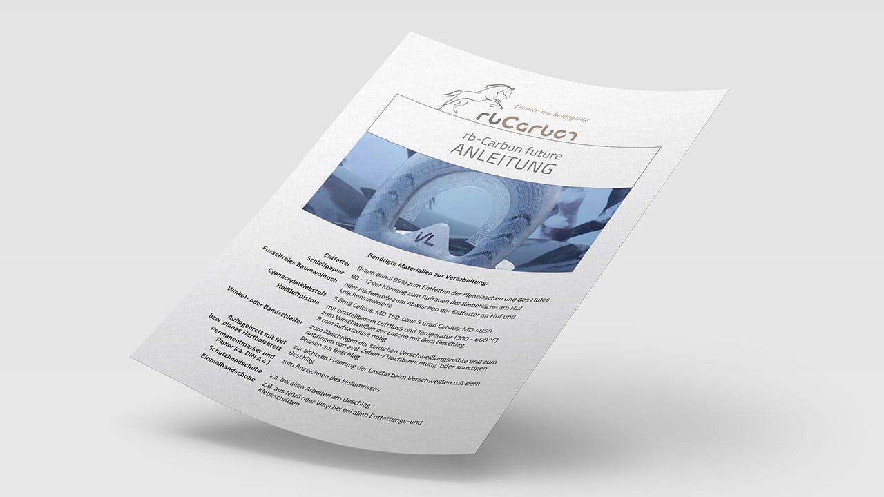 Anleitung Montage rbCarbon future, Printdesign München