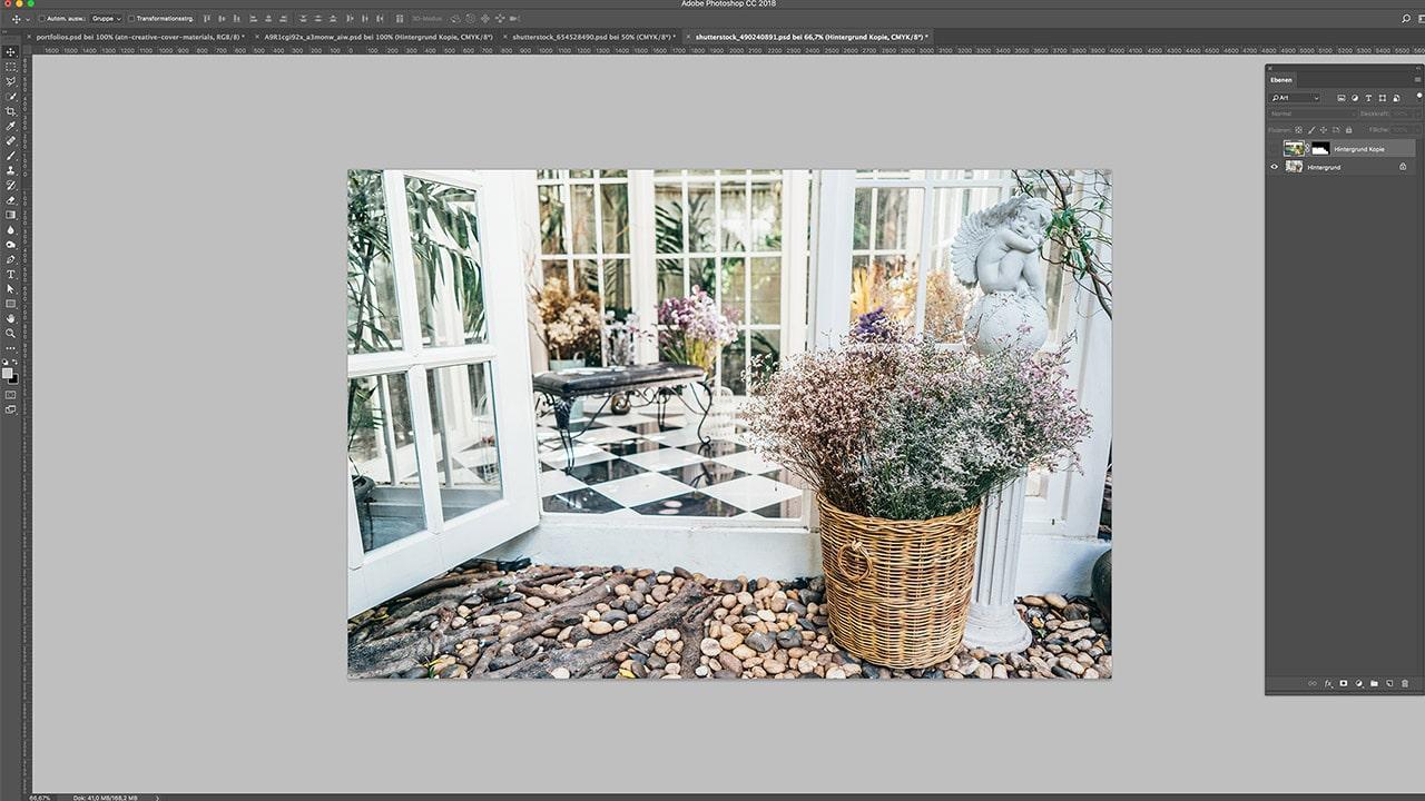 Referenz Photoshop Composing München: Vor der Bildbearbeitung