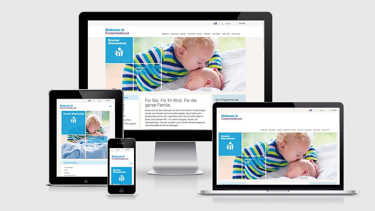 Portfolio Webdesign Konzept, Referenzen Website