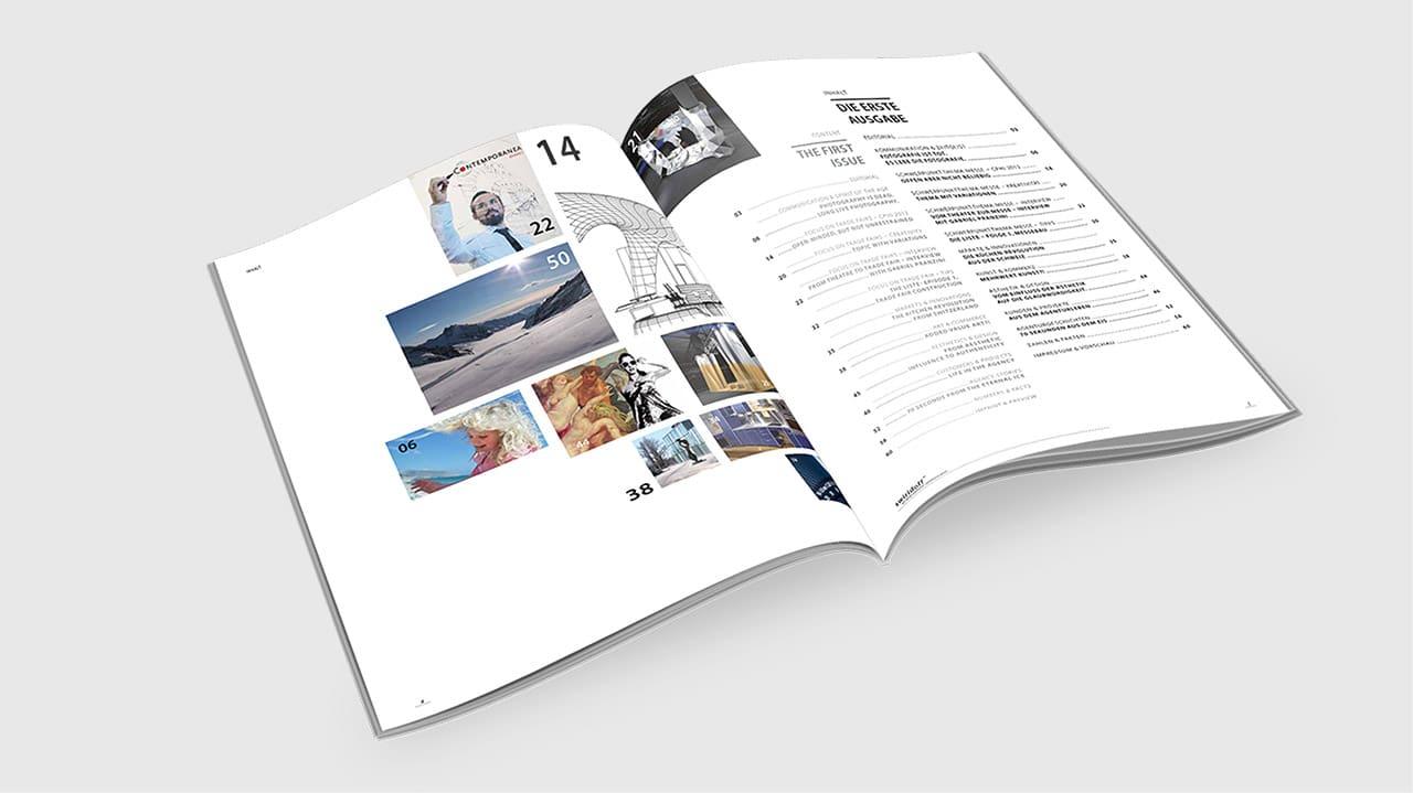 Inhaltsseite für ein Magazin, Editorial Design München