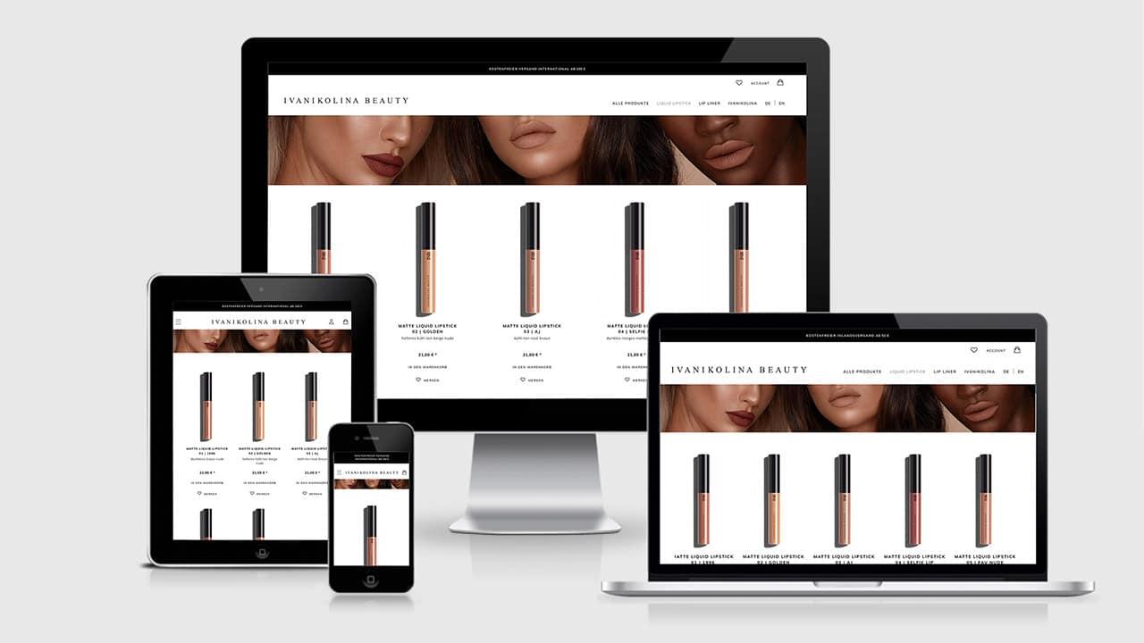 Referenz Webdesign Online Shop München: Webdesign Produktseite Ivanikolina Beauty