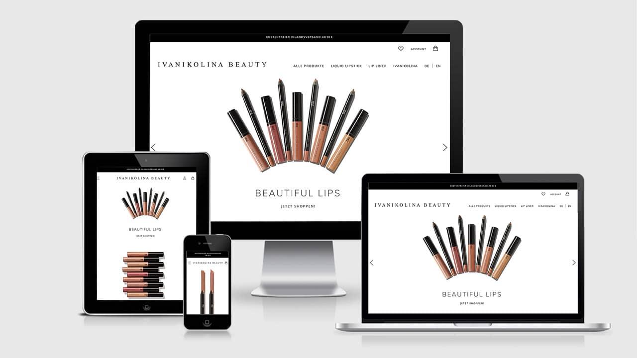 Referenz Webdesign Online Shop München: Webdesign Startseite Ivanikolina Beauty