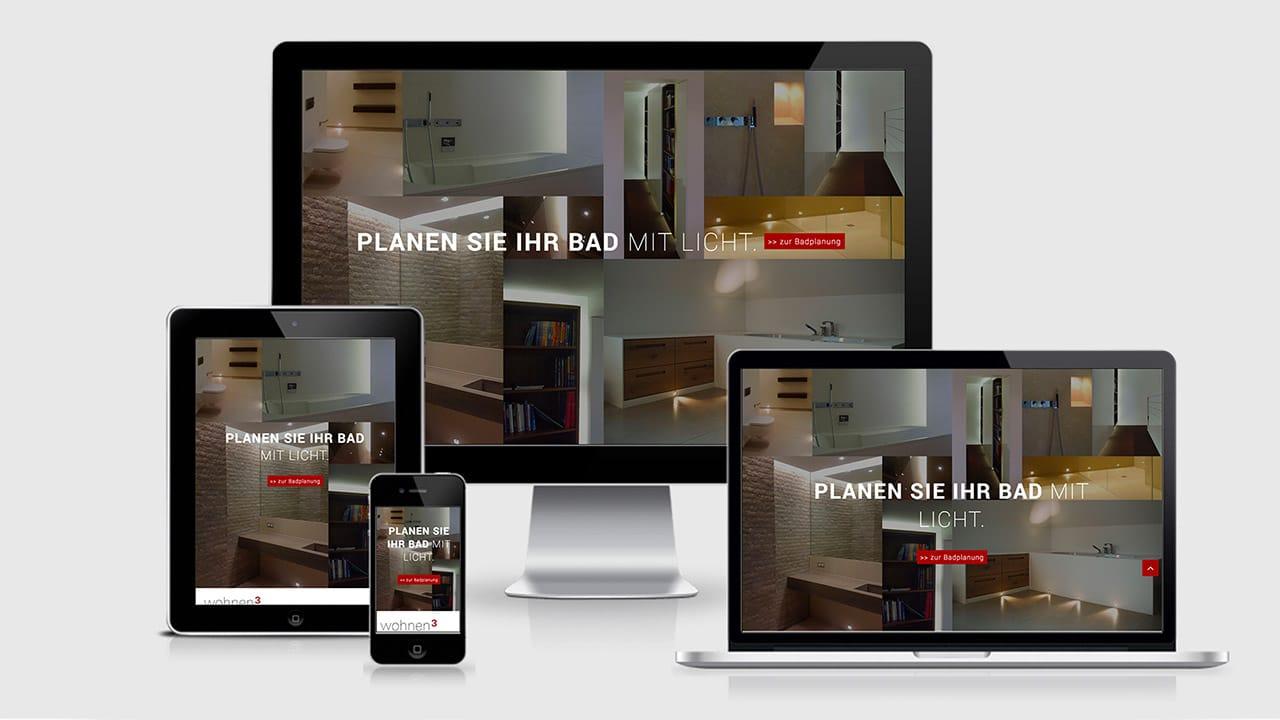 Referenz Webdesign München: Webdesign Landingpage wohnen3