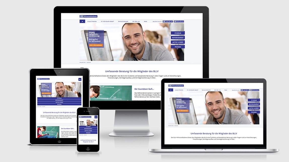 Website Design BLLV WD in Responsive Design