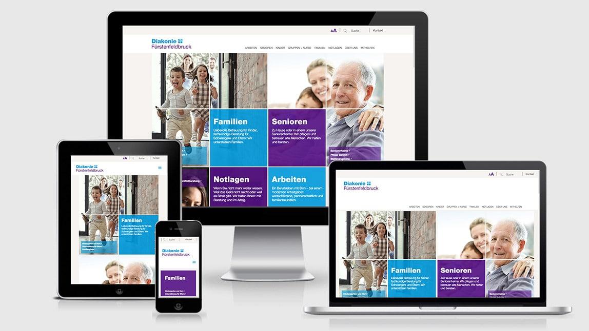 Website Design Diakonie FFB in Responsive Design