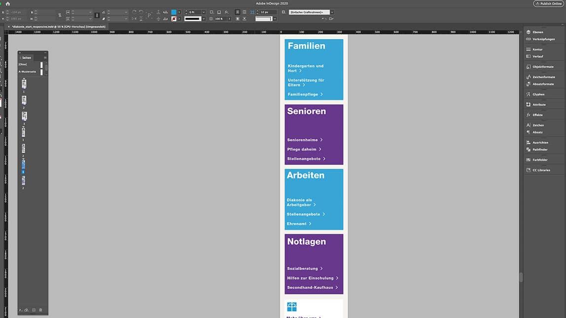 Website Design Layout Handy Startseite Website