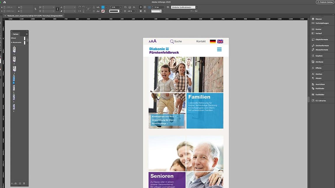Website Design Layout Tablet Startseite