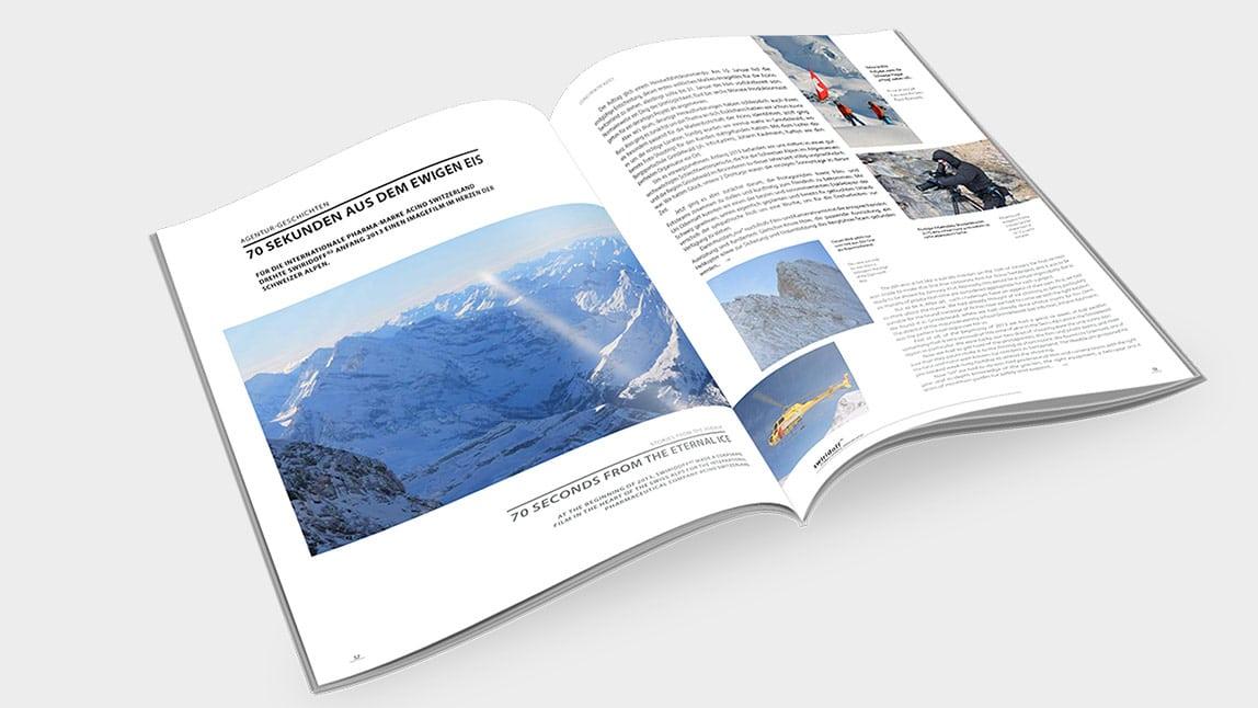 Print Design München Magazin Innenseiten