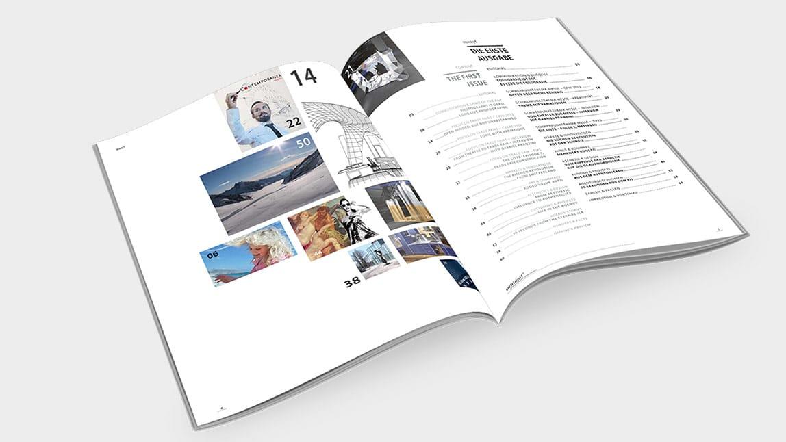 Editorial Design München Magazin Innenseiten
