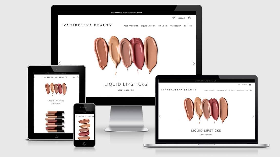 Webdesign Web Shop für Kosmetik Produkte