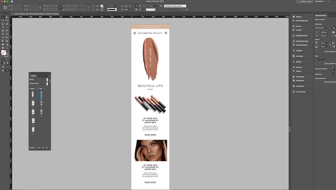 Webshop Design München Layout für Handy, Mobile Ansicht in Responsive Design