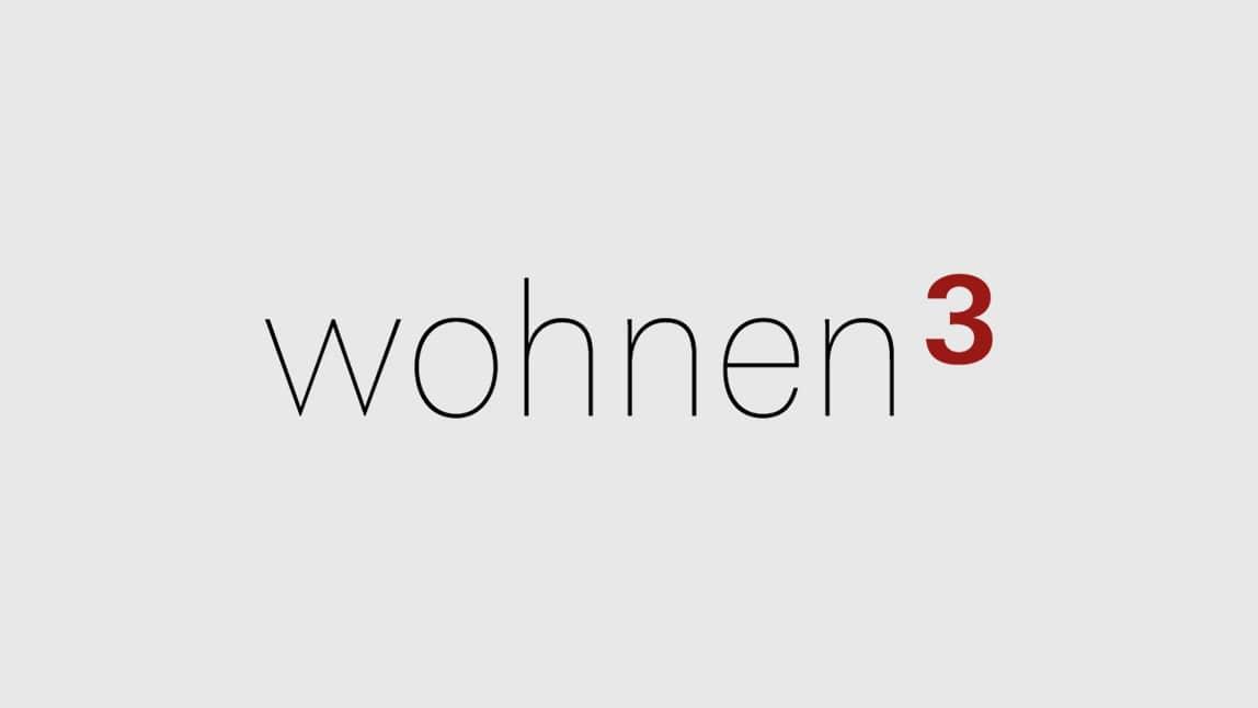 Logo Design München Logo wohnen3