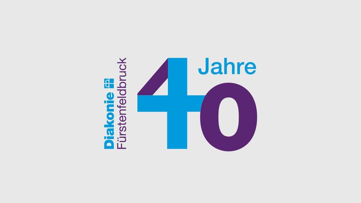 Logo 40 Jahre Diakonie Fürstenfeldbruck, Logo Design München