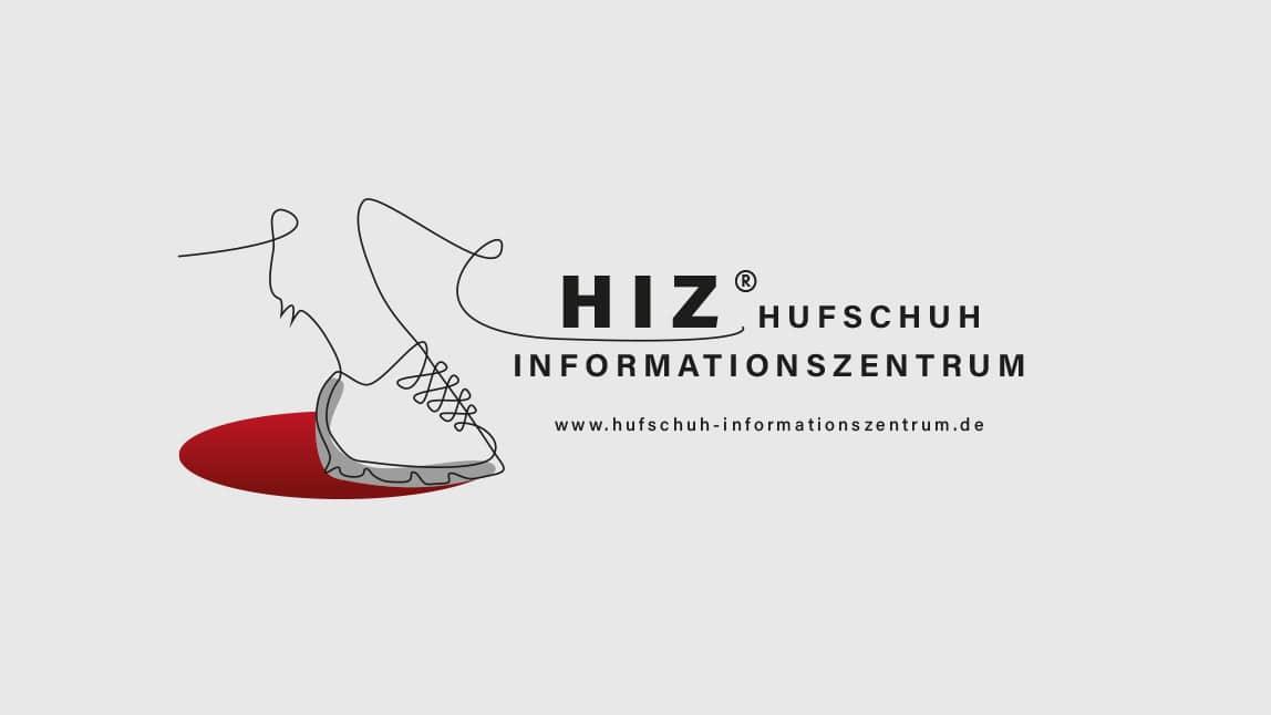 Logo HIZ Hufschuh Informationszentrum, Logo Design München
