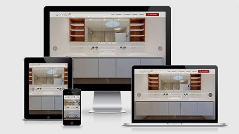 Responsive Design für verschiedene Endgeräte, Website Gestaltung München