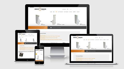 Website Dosch & Amand Products, Website Design München