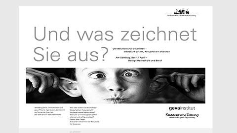 Gestaltung Anzeige, Printdesign München