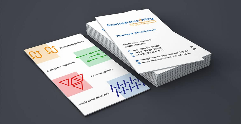 Visitenkarte finance&accounting, München