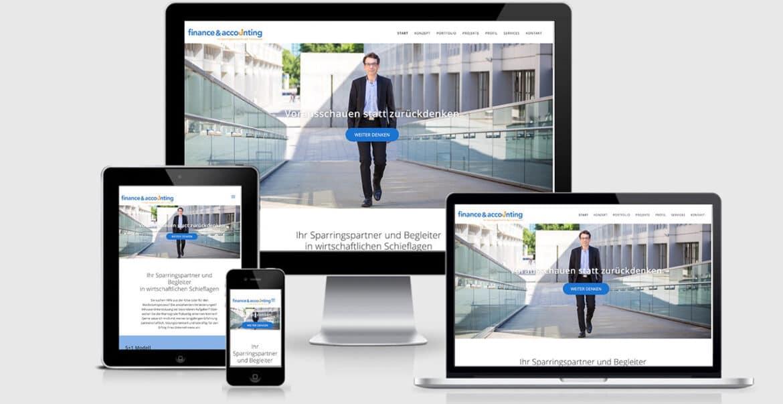 Website Design für finance & accounting München
