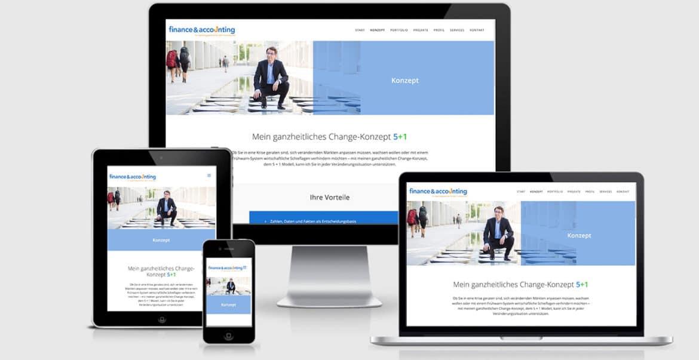 Website Design Konzeptseite